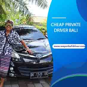 Cheap Private Driver Bali