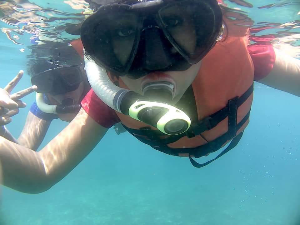 Snorkeling at Padang Bay Blue Lagoon